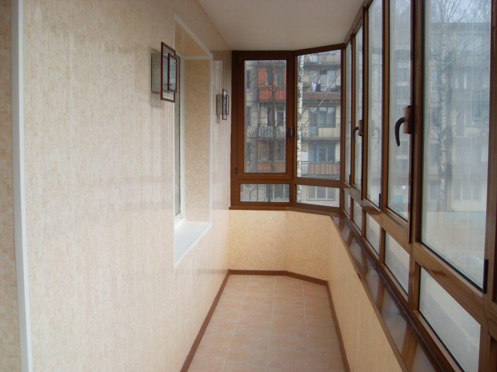 отделка холодного балкона