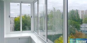 раздвижной холодный балкон provedal