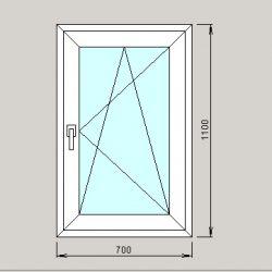 купить окно 700х1100