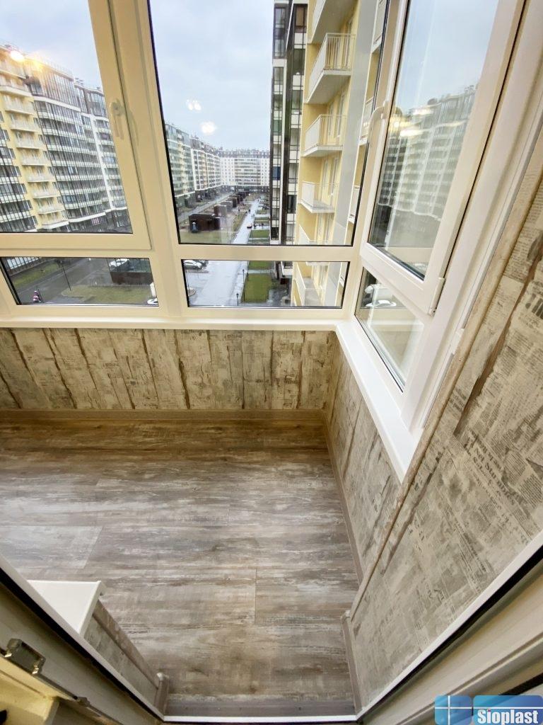 ламинат на стены балкона